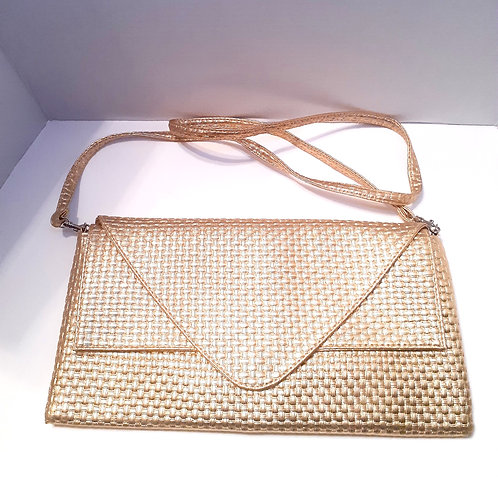 Gold Textured Clutch