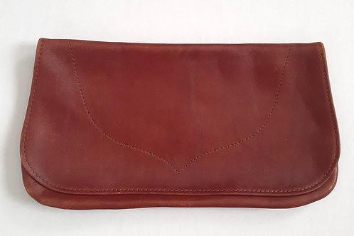 Dark RustLeather Clutch