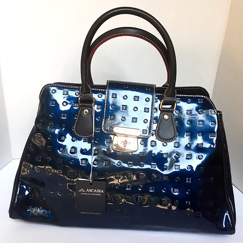 Royal Blue Patent Leather Handbag