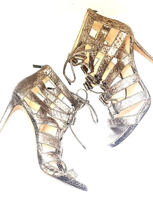 Gold Metallic Strappy Stiletto