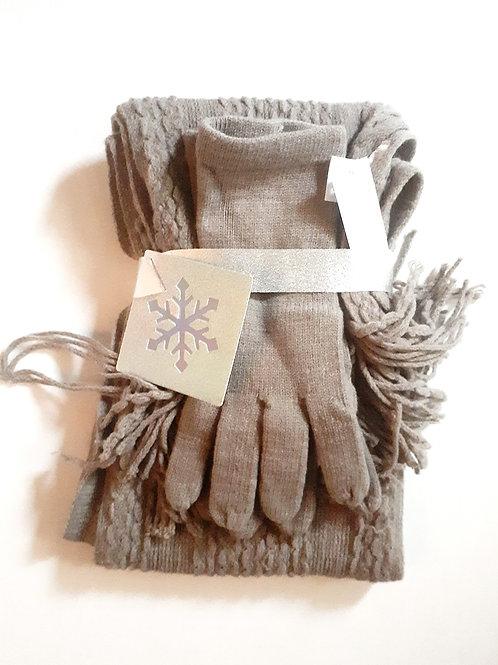 Stone Gloves & Scarf Set