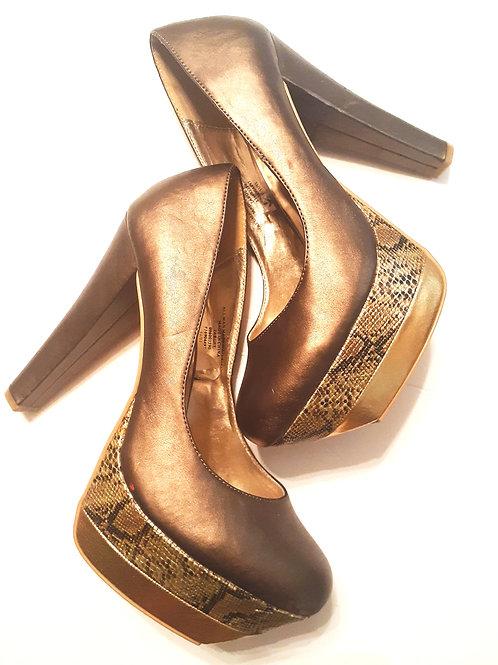 Bronze Snakeskin Shoe