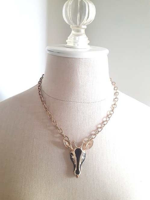 Giraffe Medallion Necklace