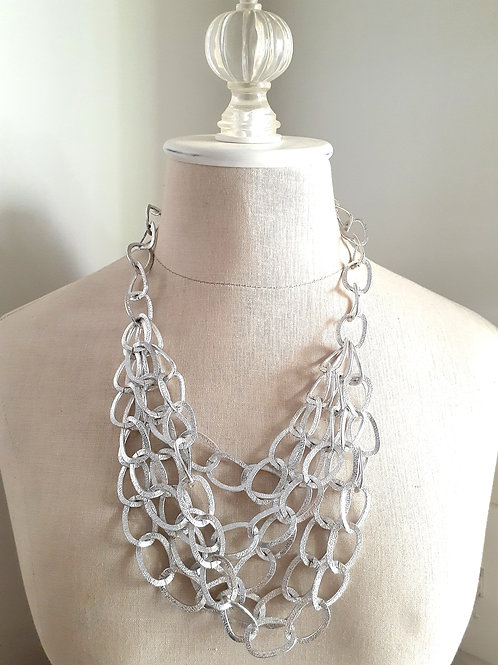 Silver Chain-link Necklace