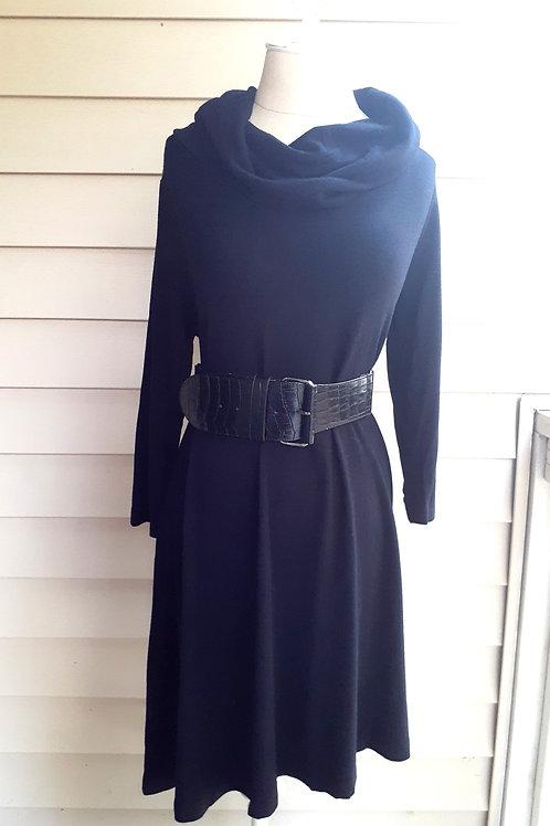 Cowl Neck Dress with Belt