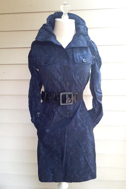 Michael Kors Blue Coat Dress with Belt