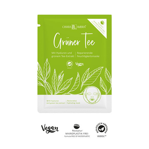 CHIARA AMBRA® Tuchmaske Grüner Tee