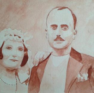 Portrait mariage vintage