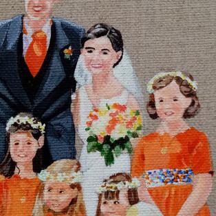 Cortège mariage orange Détails - Marie-Fé