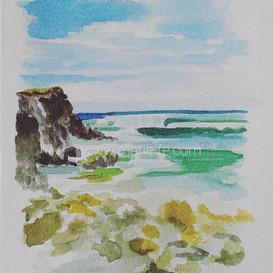 Aquarelle - Côte sauvage Quiberon