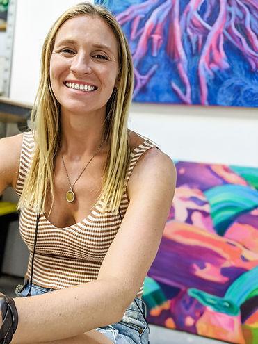 Studio Skye Silver artist san diego oil painting painter ocean beach california surf art nature art muralist art commissions