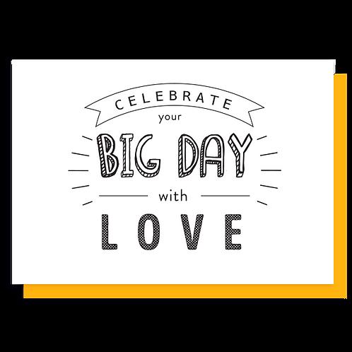 Cartão Celebrate your big day