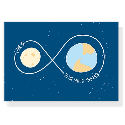 Cartão To the Moon and Back