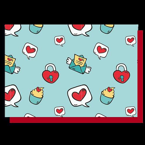Cartão Amor Colorido