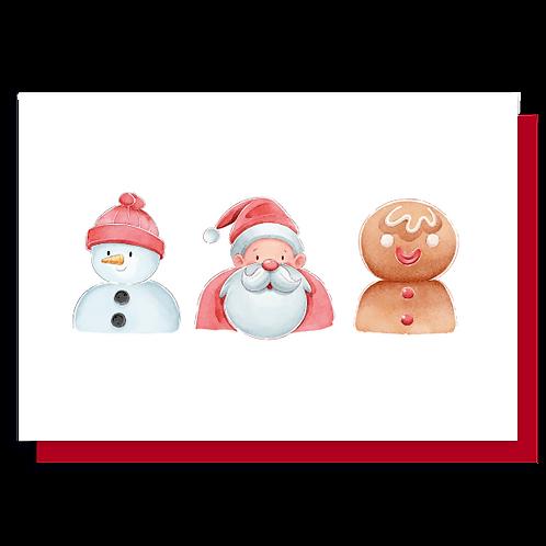 Cartão Trio de Natal
