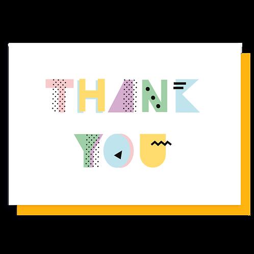 Cartão Thank You