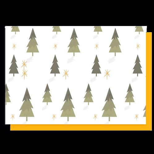 Cartão Árvores Natalinas