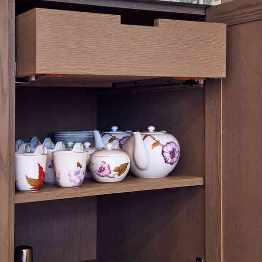 Custom Stained Cabinet Interiors & Draws