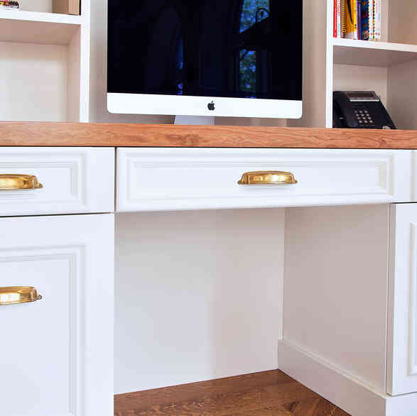 Custom Home Office Desk- Close Up