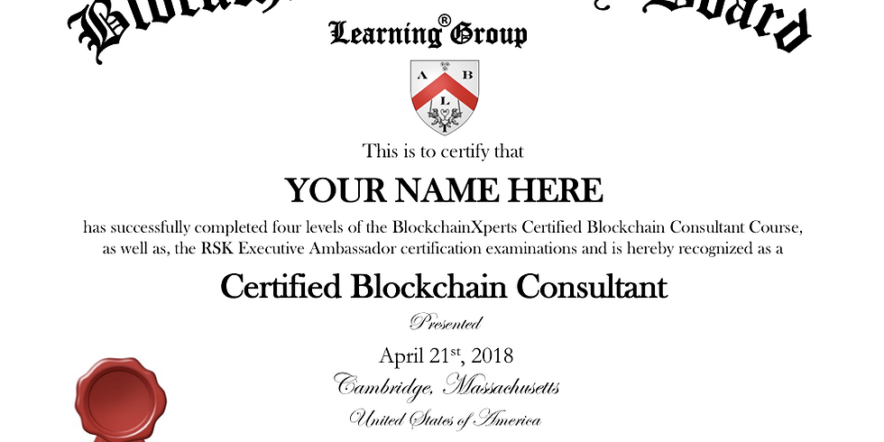"""(Level 4) Become a """"Certified Blockchain Consultant"""": Advanced Level (4)"""