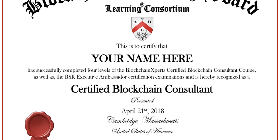 "(Level 1) Become a ""Certified Blockchain Consultant"": Blockchain Fundamentals"