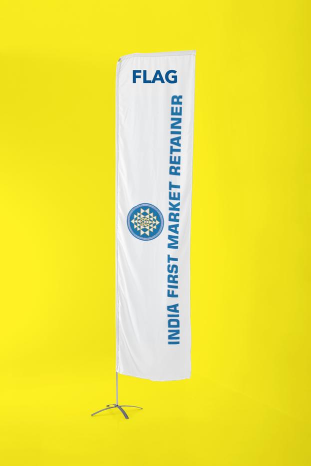 FLAG PRINT WITH POLE