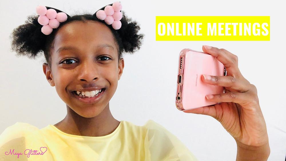 Online Meetings Maya Glitters