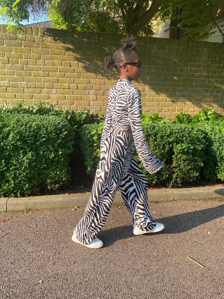 zebra print outfit maya glitters