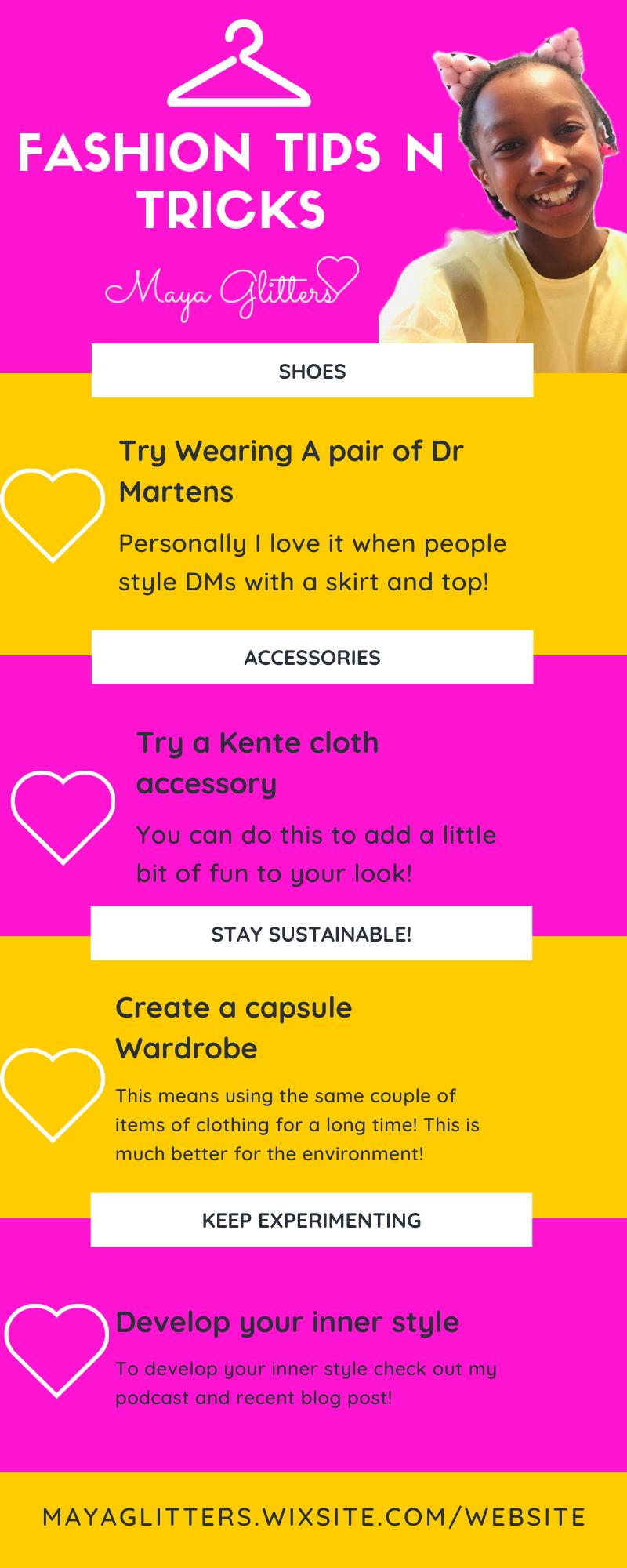 Maya Glitters Fashion Tips N Tricks