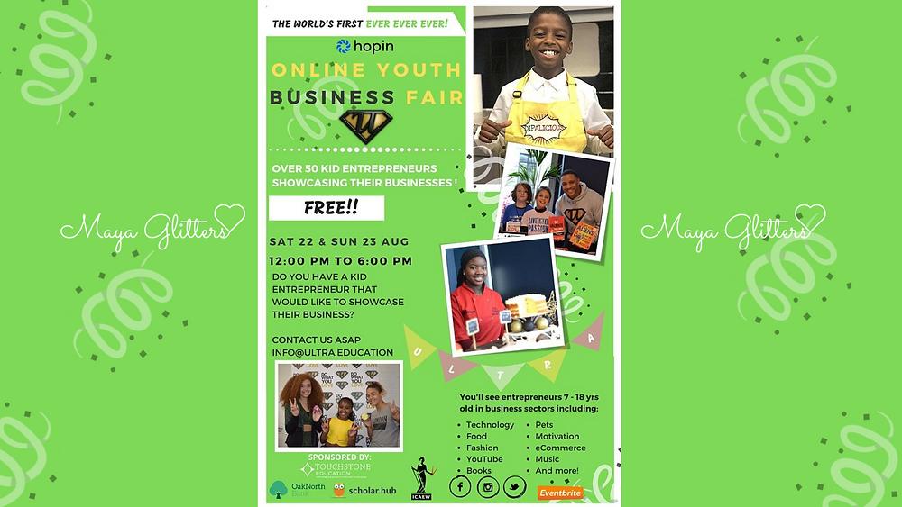 Ultra Education Virtual Kids Business Fair - Maya Glitters