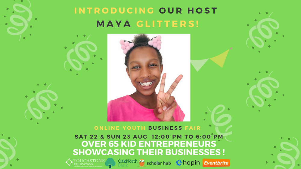 Ultra Education Virtual Business Fair - Maya Glitters Host