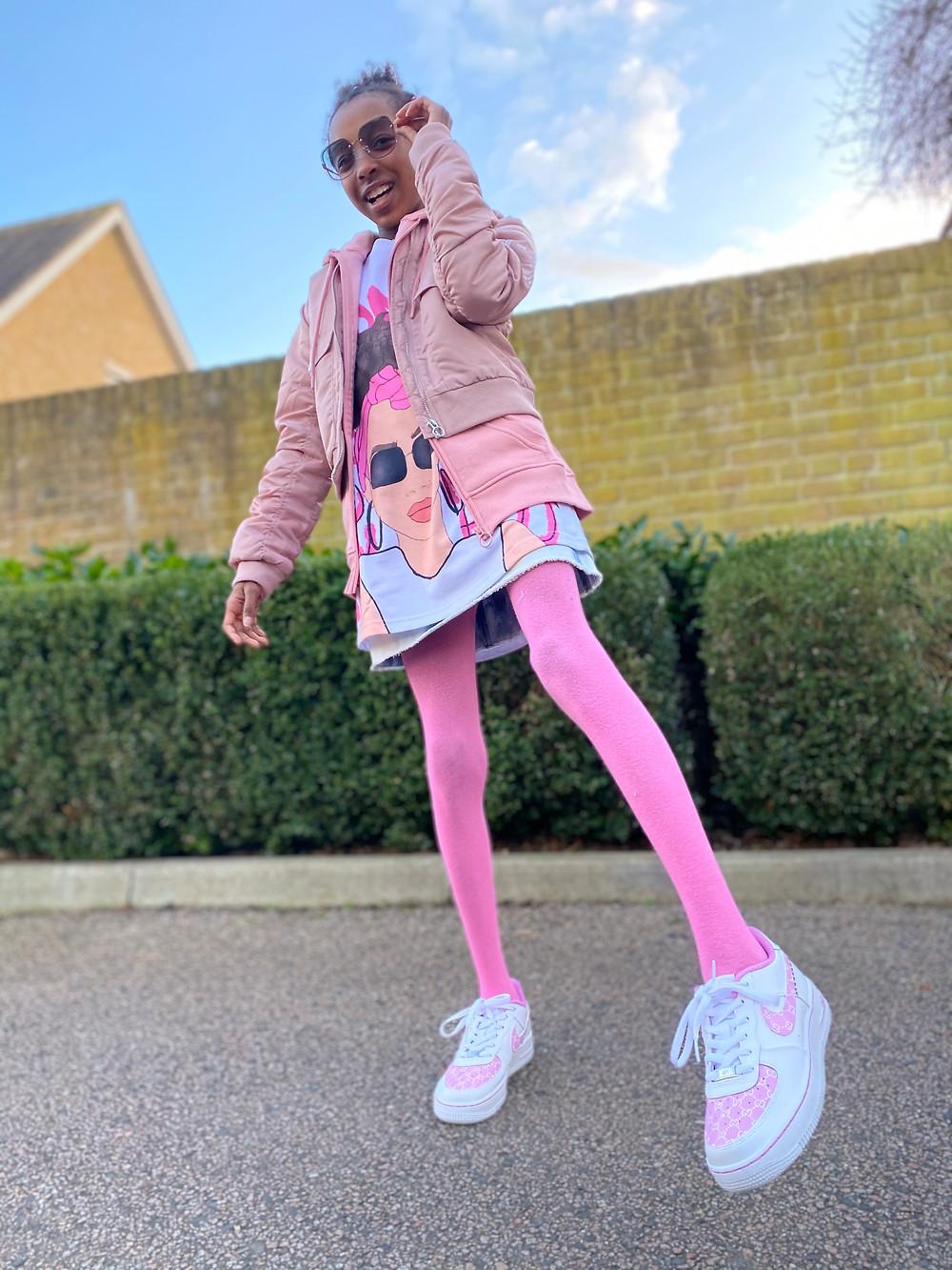 kids fashion blogger, smiling, how to style, kids fashion