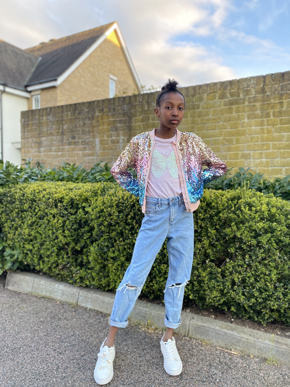 sequin outfits on fashion blogger maya glitters