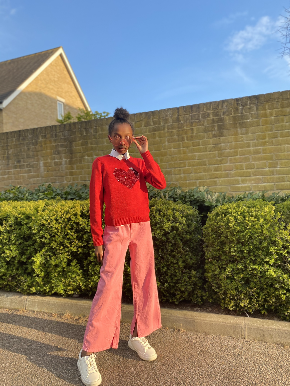 fun, colourful retro outfit, Maya Glitters