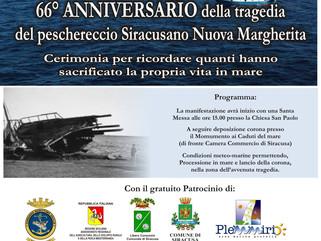 66° anniversario della Tragedia del Peschereccio Siracusano Nuova Margherita