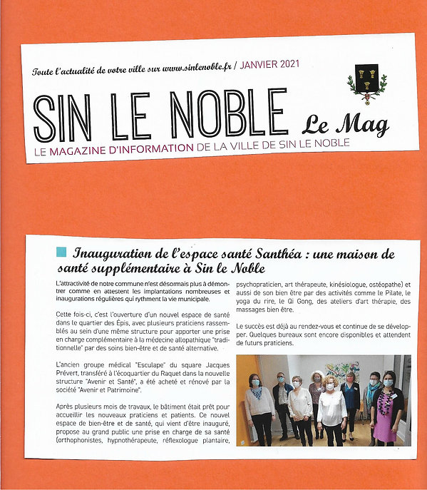 ARTICLE MAGAZINE SIN LE NOBLE JANVIER 20