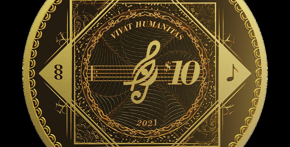 Vivat Humanitas 2021 Proof-Like - 1/10oz 9999 Gold