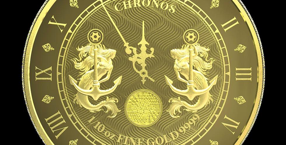 Chronos 2021 Proof-Like - 1/10oz 9999 Gold