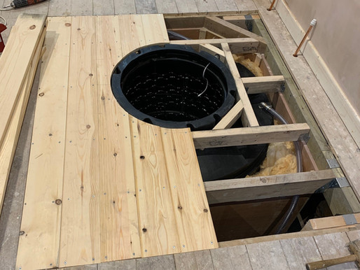 Void below timber floor installation.