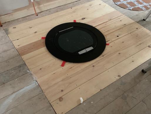 Void below timber floor installation
