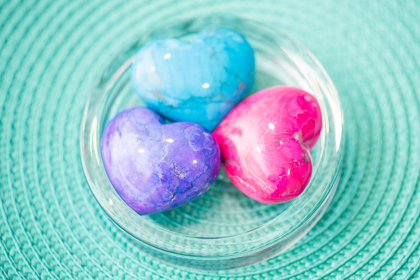 Howlite Crystal Hearts