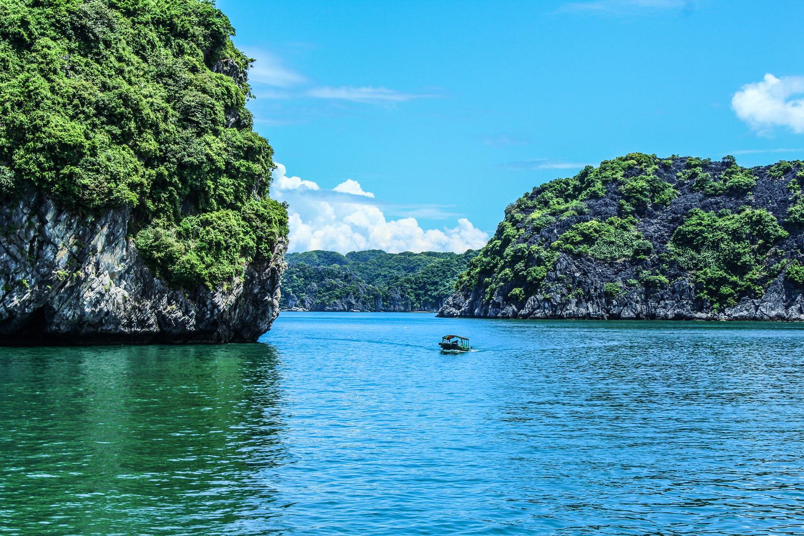 La baie d'Ha Long au Vietnam