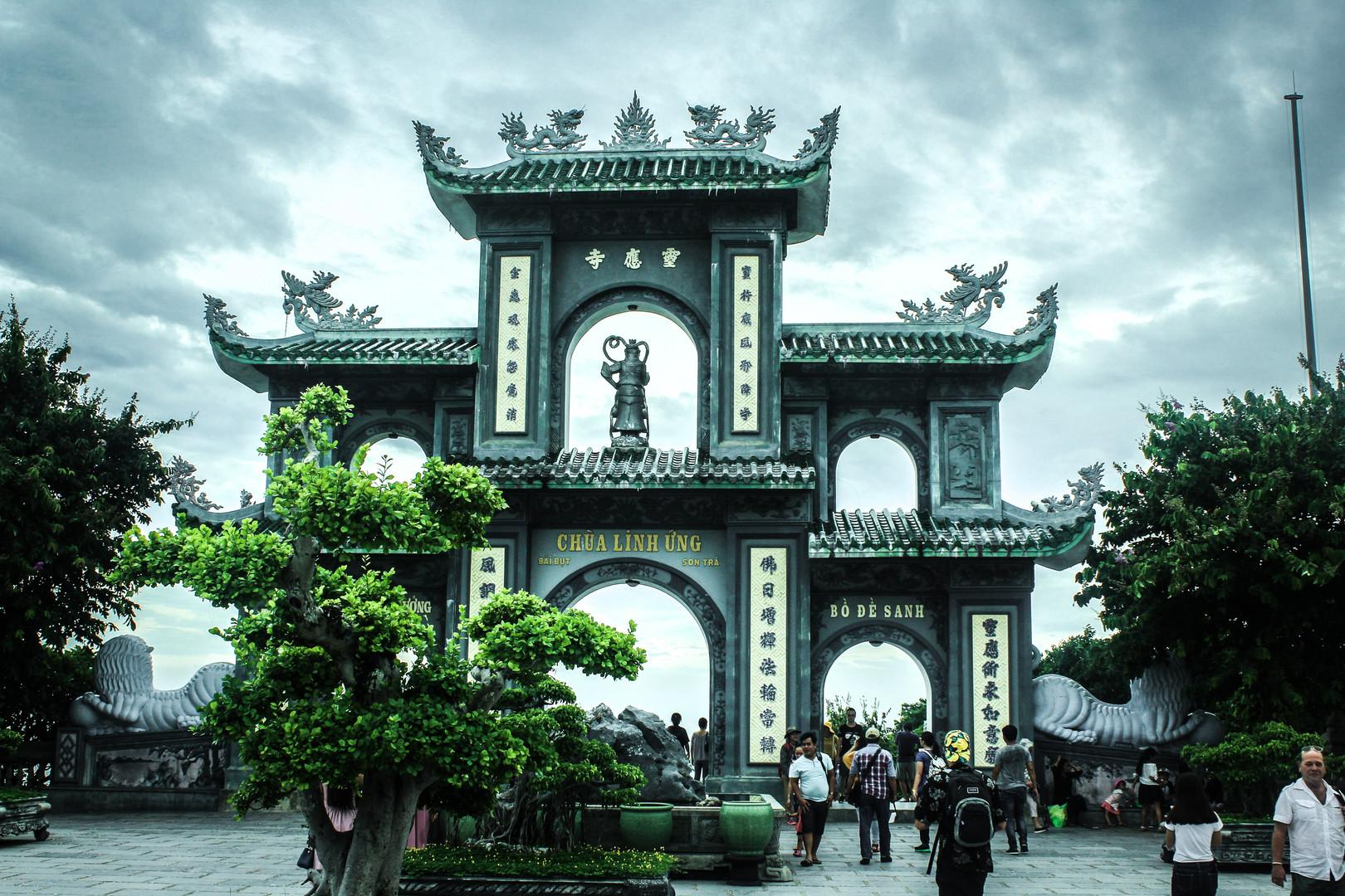 Le temple de Da Nang au Vietnam
