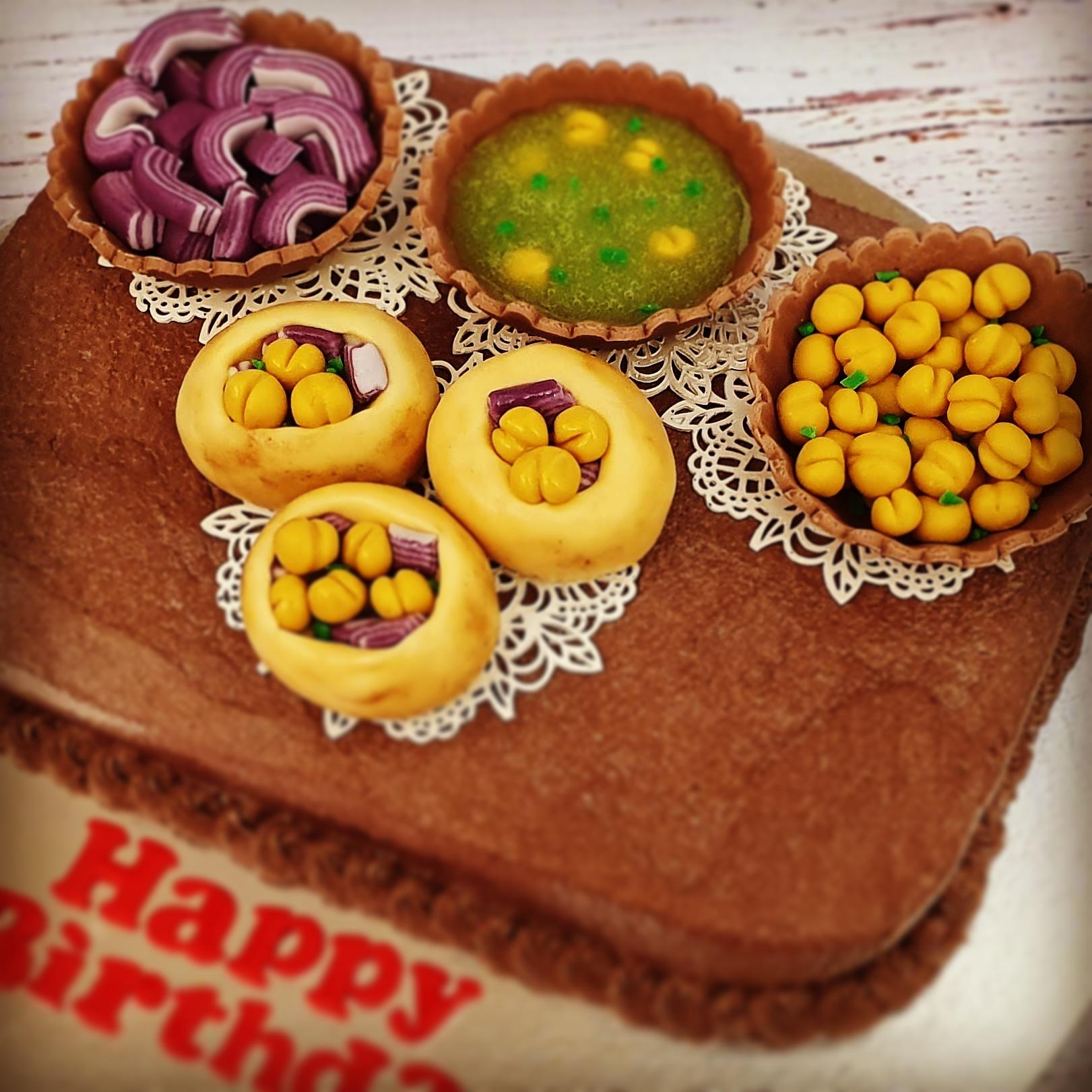 Pani Puri Cake