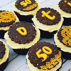 Black and Gold Cupcakes