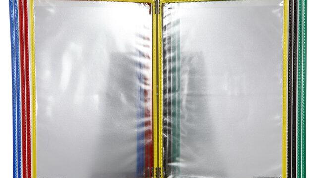แท่นโชว์เอกสารตั้งโต๊ะ A4 (10ซอง) เทอริโฟลด์ 434109