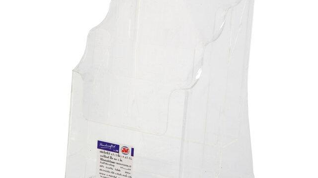 กล่องใส่โบรชัวร์ 3 ช่อง 16x15x26 ซม. JW A5-3L