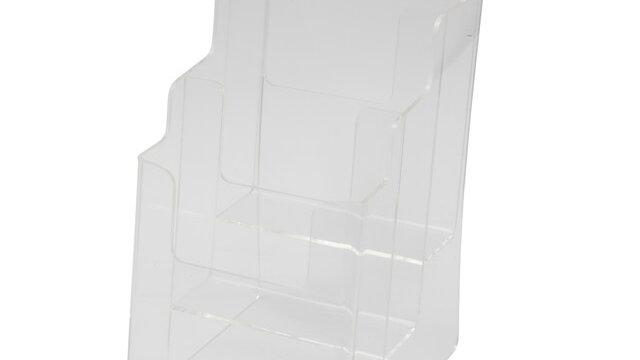 กล่องใส่โบรชัวร์พับ 3 (3ช่อง) A4 JW