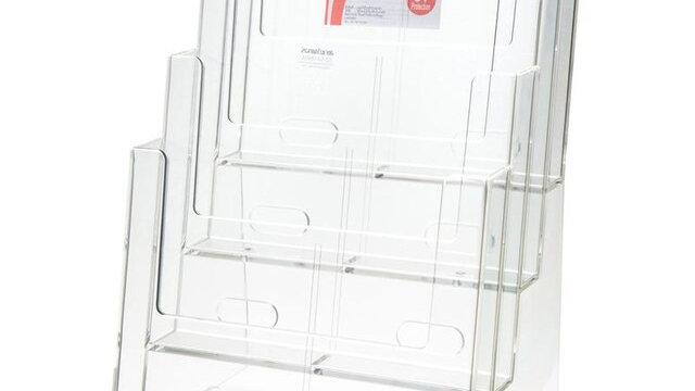 กล่องใส่โบรชัวร์ 23.4x17x33.8 ซม. A4 (4 ชั้น) Echo 4C230D
