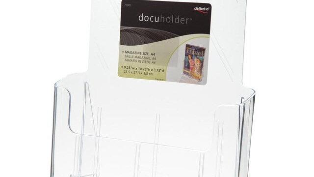 กล่องใส่โบรชัวร์ 23.5x9.5x27.5 1ชั้น A4 Deflect-o 77001-TL